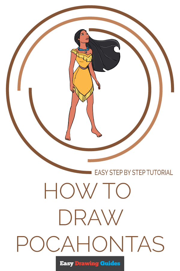 How to Draw Pocahontas | Share to Pinterest