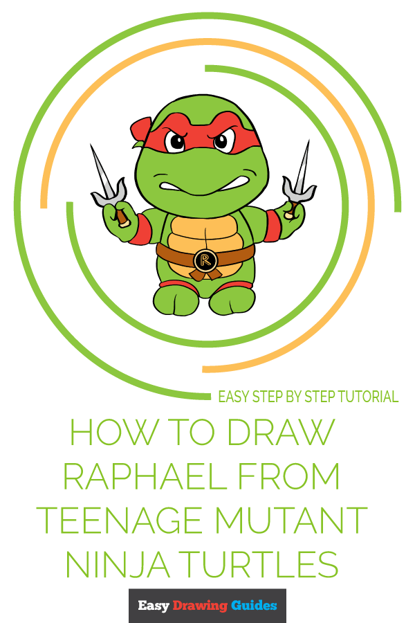 How to Draw Raphael from Teenage Mutant Ninja Turtles | Share to Pinterest