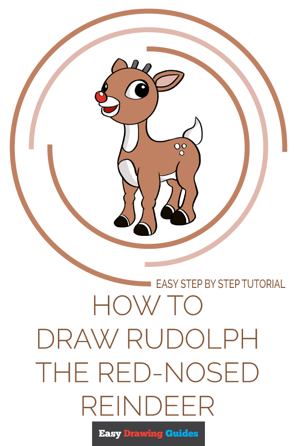 How to Draw Rudolph the Red-Nosed Reindeer | Share to Pinterest