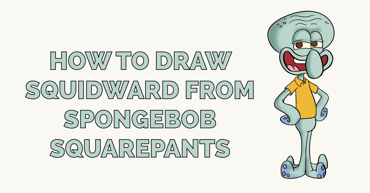 How to Draw Squidward from Spongebob Squarepants Featured Image