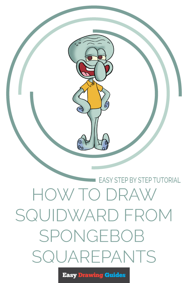 How to Draw Squidward from Spongebob Squarepants | Share to Pinterest