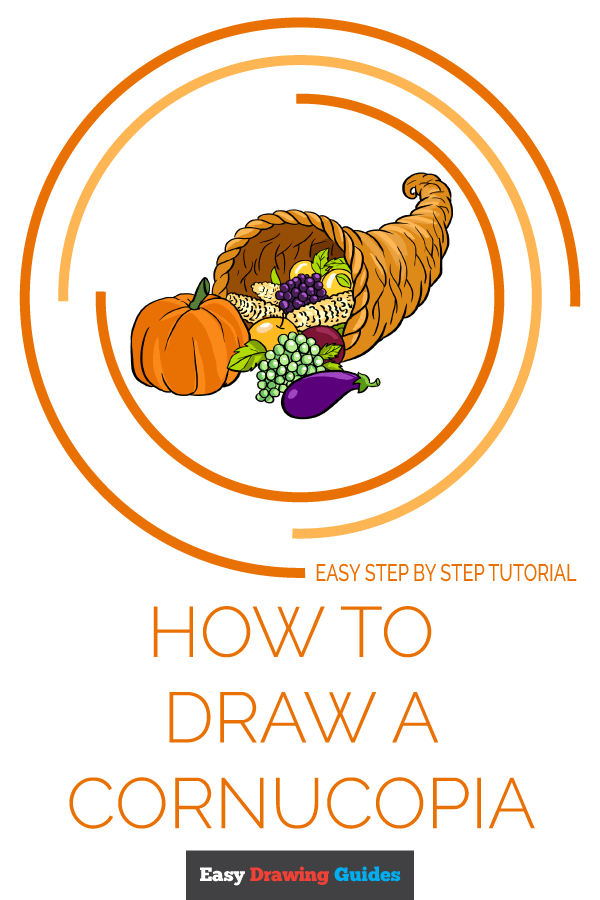 How to Draw Cornucopia | Share to Pinterest