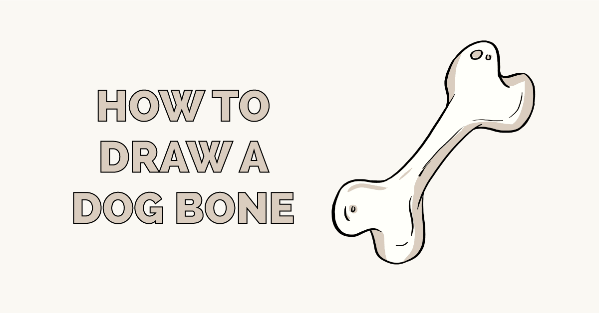 How to Draw a Dog Bone Featured Image