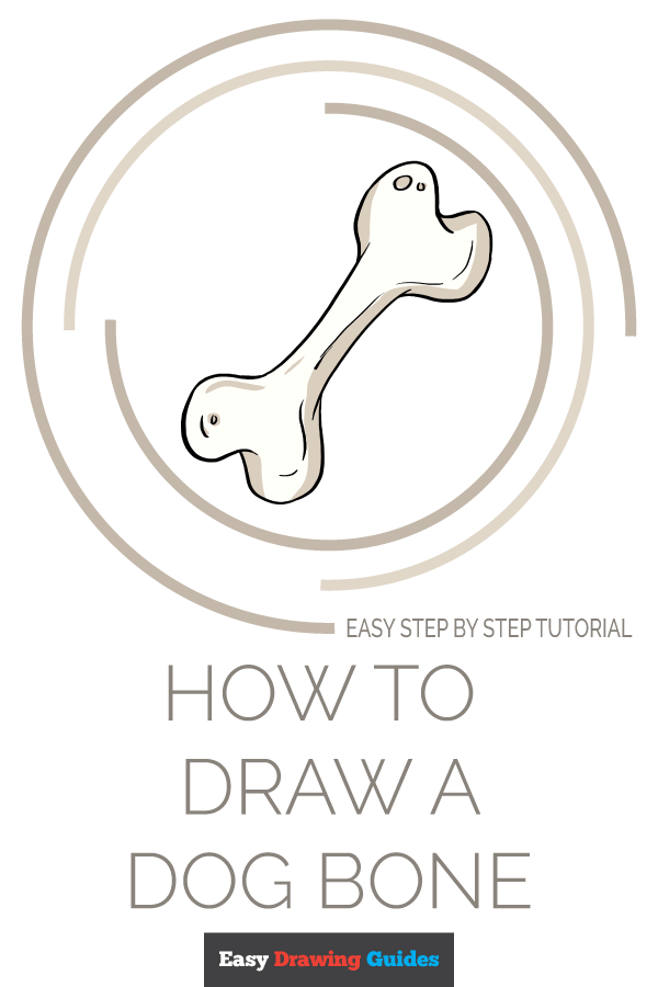How to Draw Dog Bone | Share to Pinterest