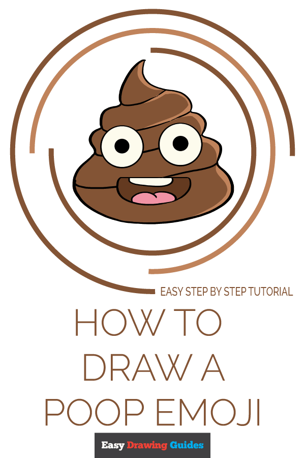How to Draw Poop Emoji | Share to Pinterest