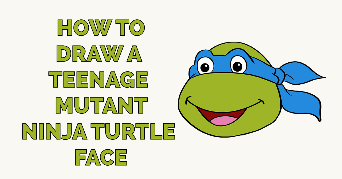 How To Draw A Teenage Mutant Ninja Turtle Face Really Easy