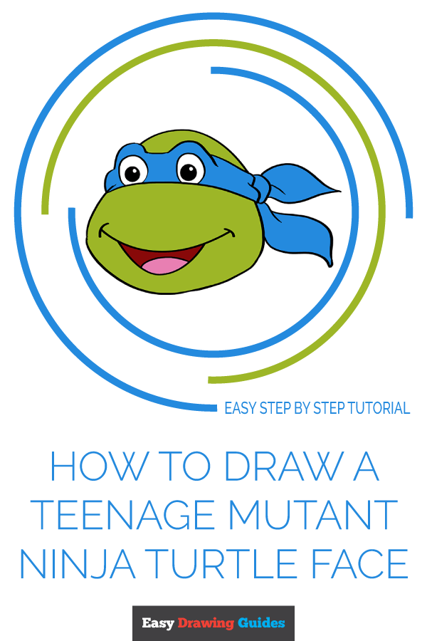 How to Draw Teenage Mutant Ninja Turtle Face | Share to Pinterest