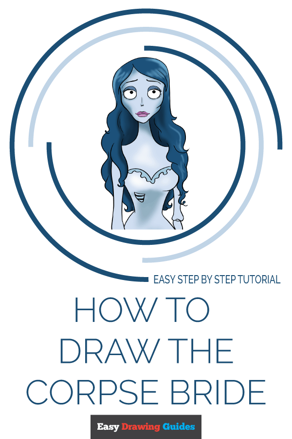 How to Draw Corpse Bride | Share to Pinterest
