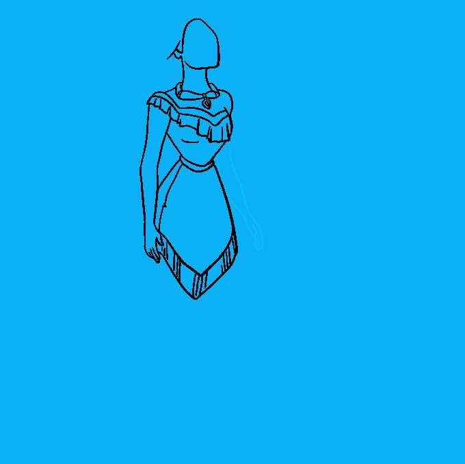 How to Draw Pocahontas Step 06