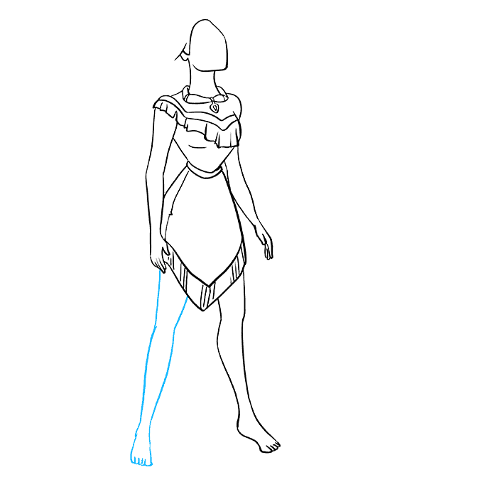 How to Draw Pocahontas Step 08