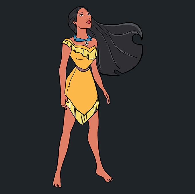 How to Draw Pocahontas Step 10