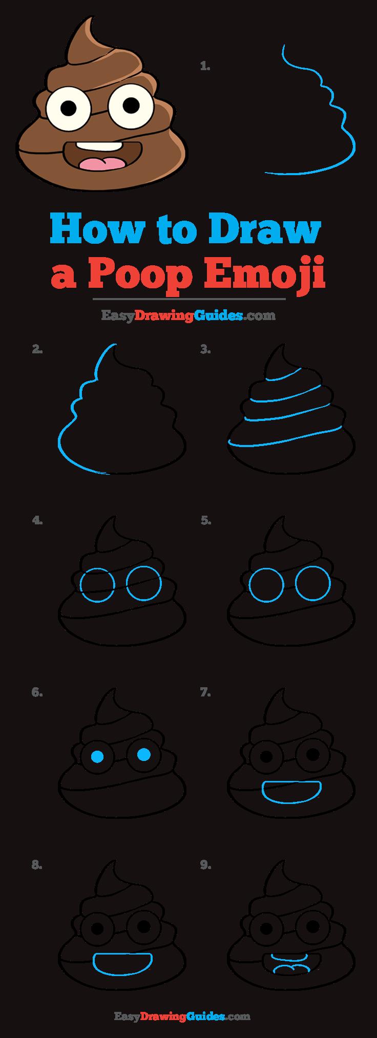 How to Draw Poop Emoji