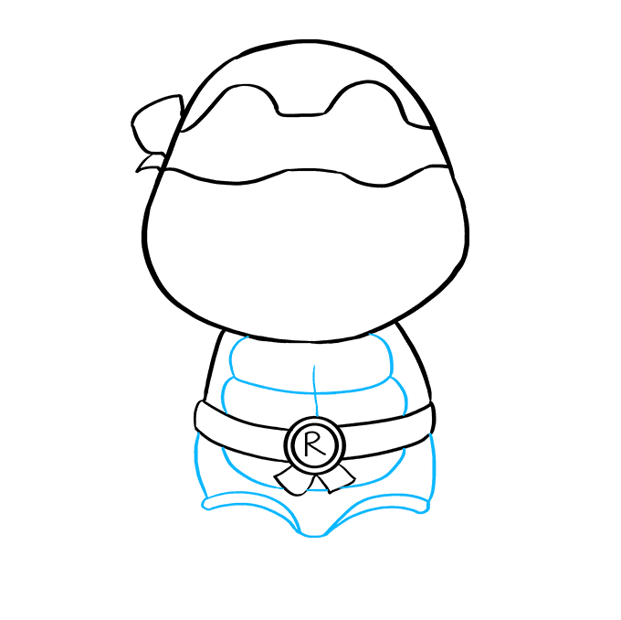 How to Draw Raphael from Teenage Mutant Ninja Turtles: Step 6
