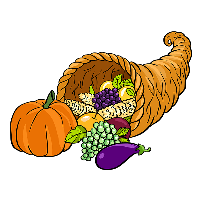 How to Draw Cornucopia: Step 10
