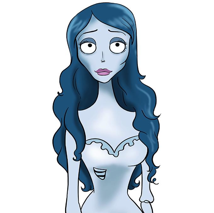 How to Draw Corpse Bride: Step 10