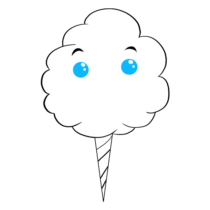 How to Draw Cotton Candy: Step 7