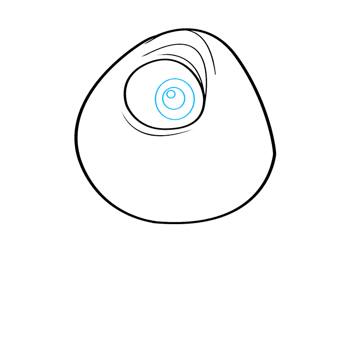 How to Draw Mike Wazowski from Monsters, Inc.: Step 5