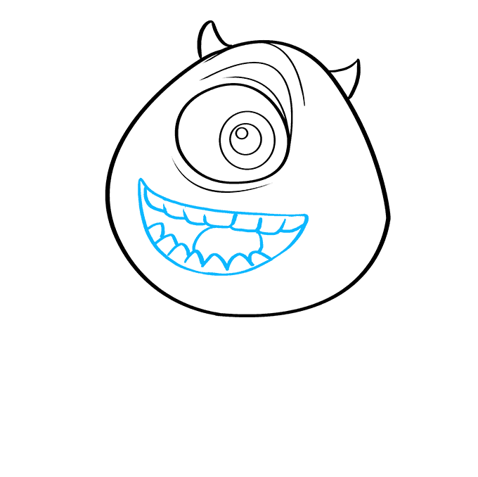 How to Draw Mike Wazowski from Monsters, Inc.: Step 7