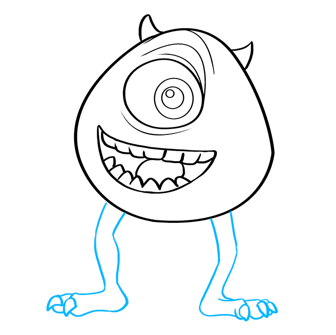 How to Draw Mike Wazowski from Monsters, Inc.: Step 8