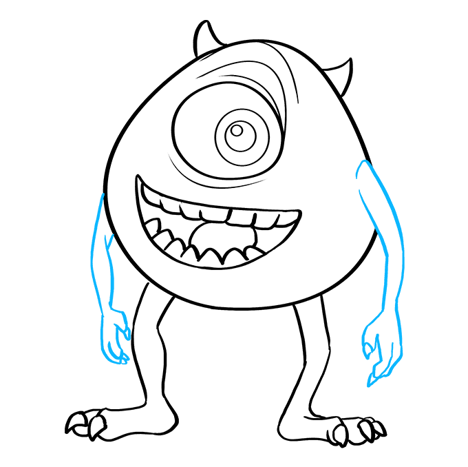 How to Draw Mike Wazowski from Monsters, Inc.: Step 9
