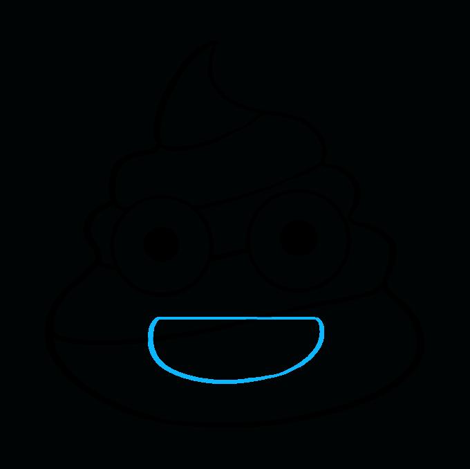 How to Draw Poop Emoji: Step 7