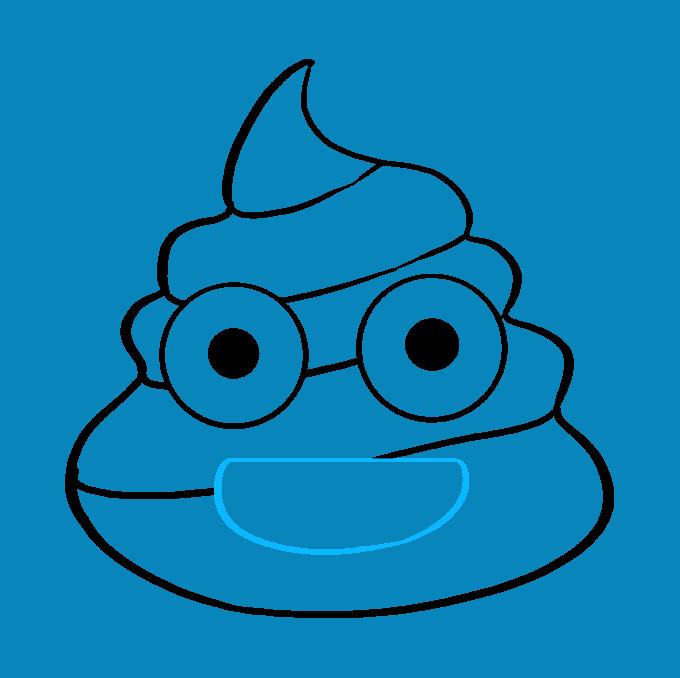 How to Draw Poop Emoji: Step 8