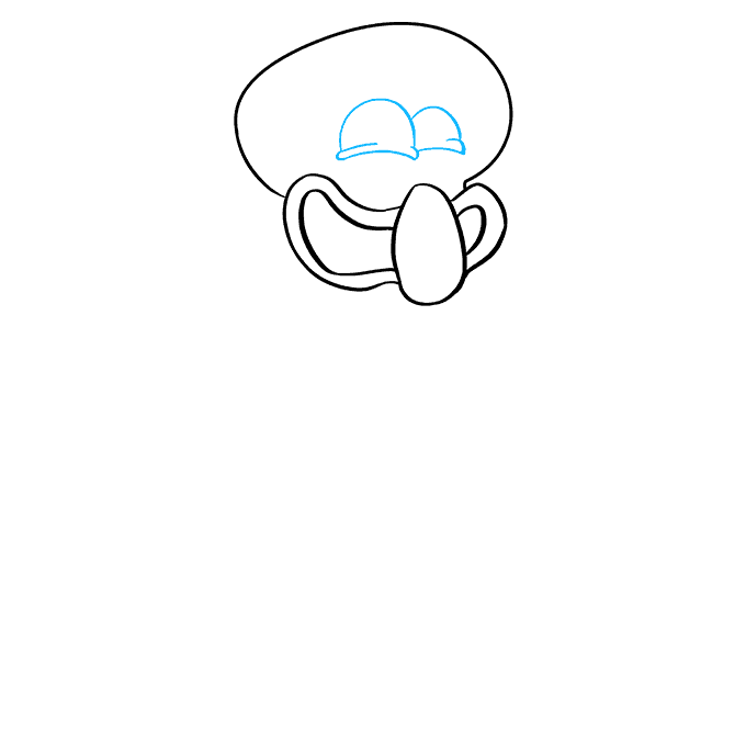 How to Draw Squidward from Spongebob Squarepants: Step 4