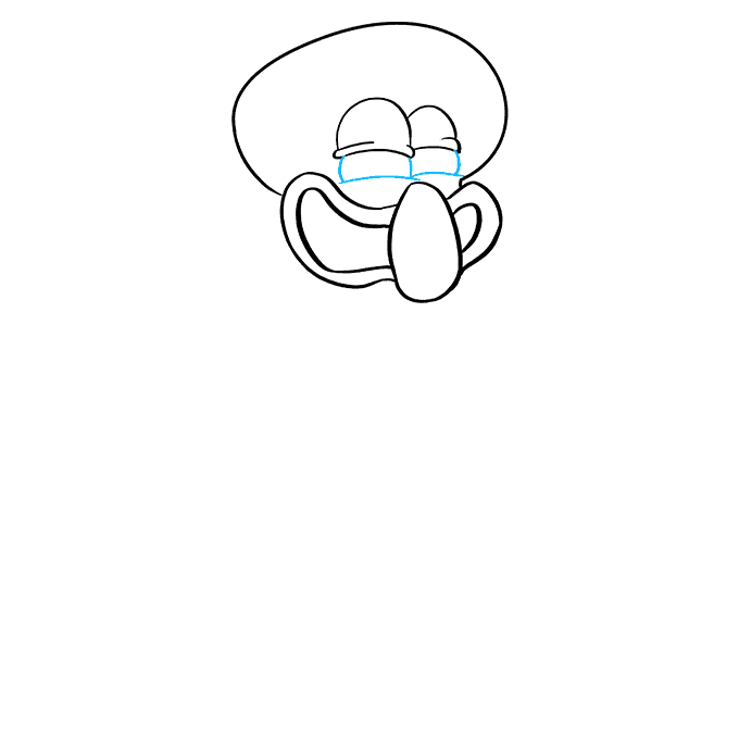 How to Draw Squidward from Spongebob Squarepants: Step 5
