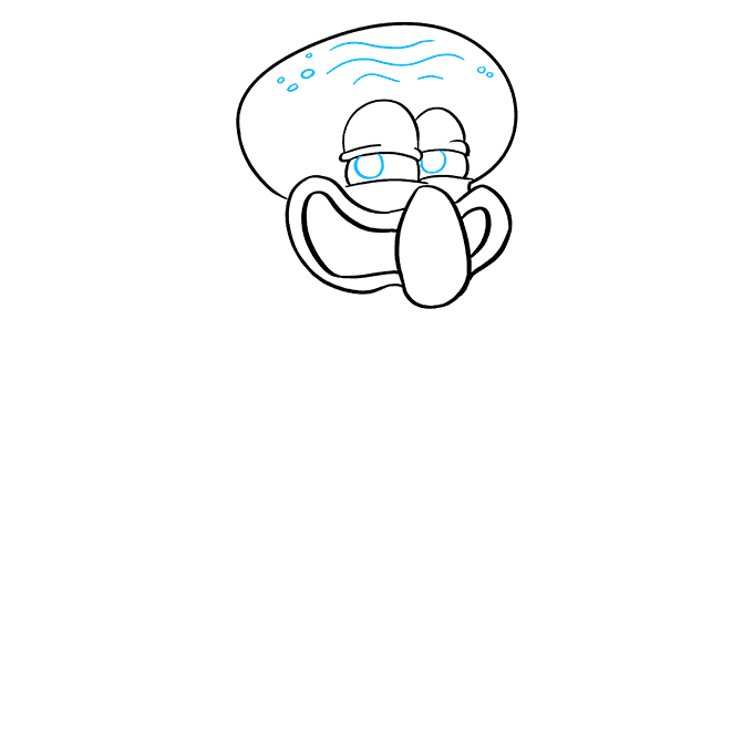 How to Draw Squidward from Spongebob Squarepants: Step 6