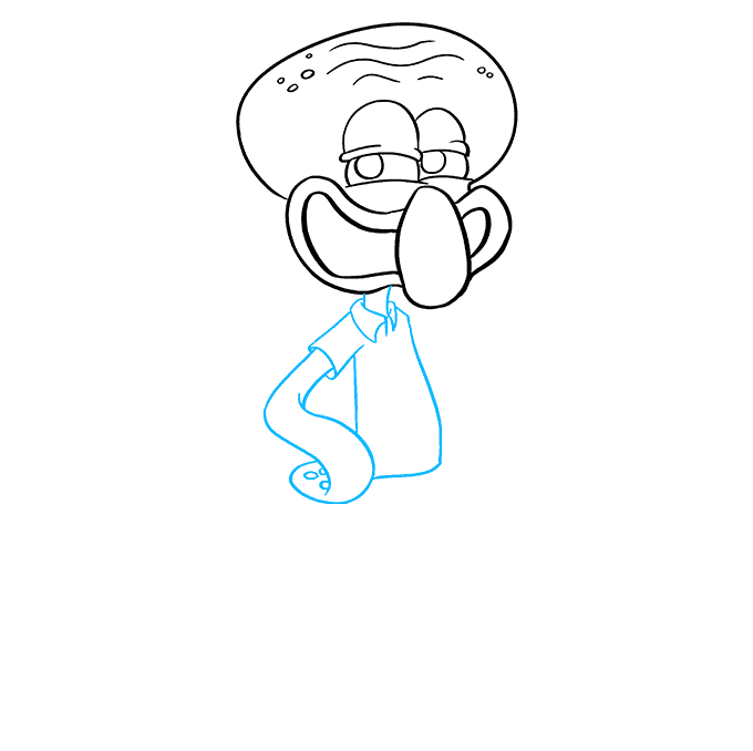 How to Draw Squidward from Spongebob Squarepants: Step 7