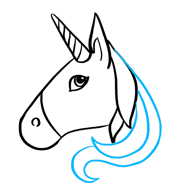 How to Draw Unicorn Emoji: Step 5