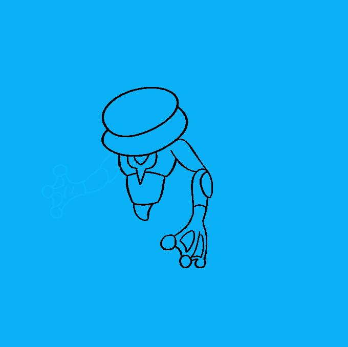 How to Draw Ash Greninja Pokémon Step 06