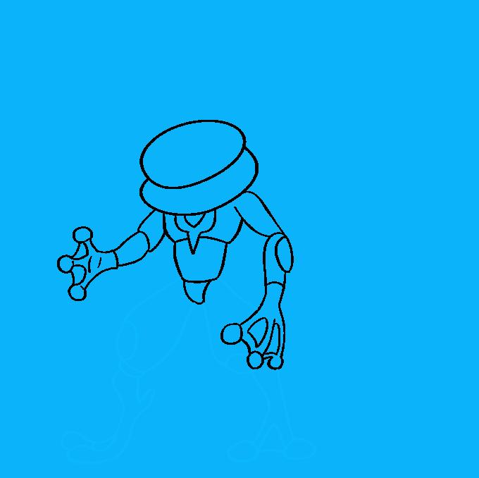 How to Draw Ash-Greninja from Pokémon: Step 7