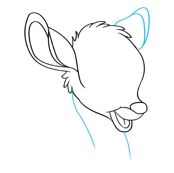 How to Draw Bambi: Step 8