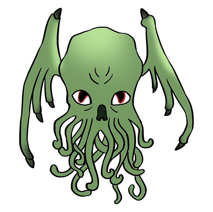 How to Draw Cthulhu: Step 10