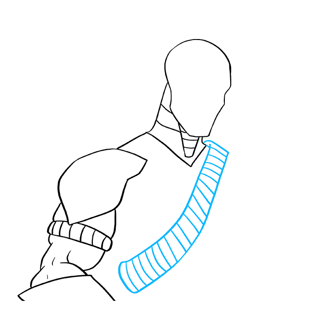How to Draw Deathstroke: Step 6
