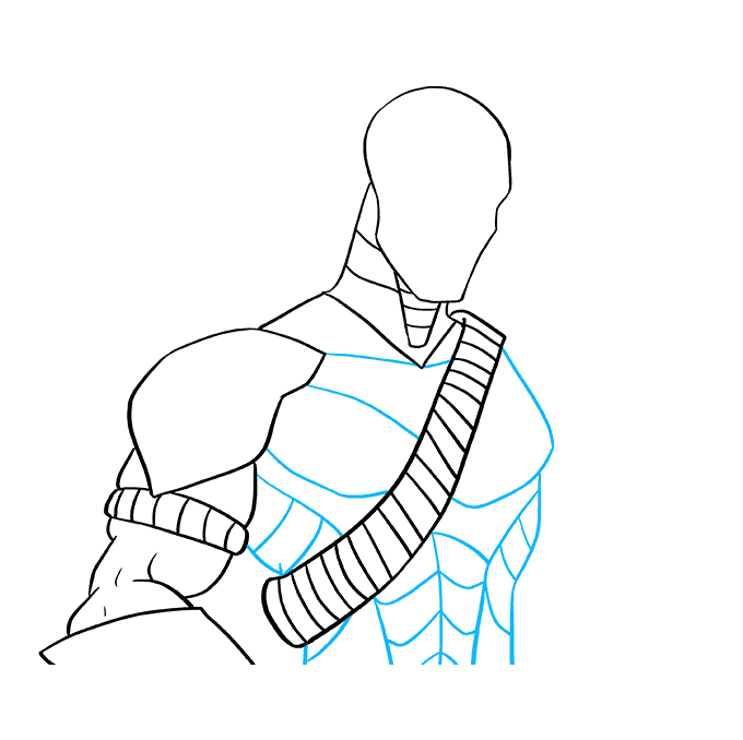How to Draw Deathstroke: Step 7