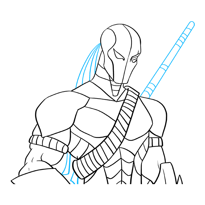 How to Draw Deathstroke: Step 9