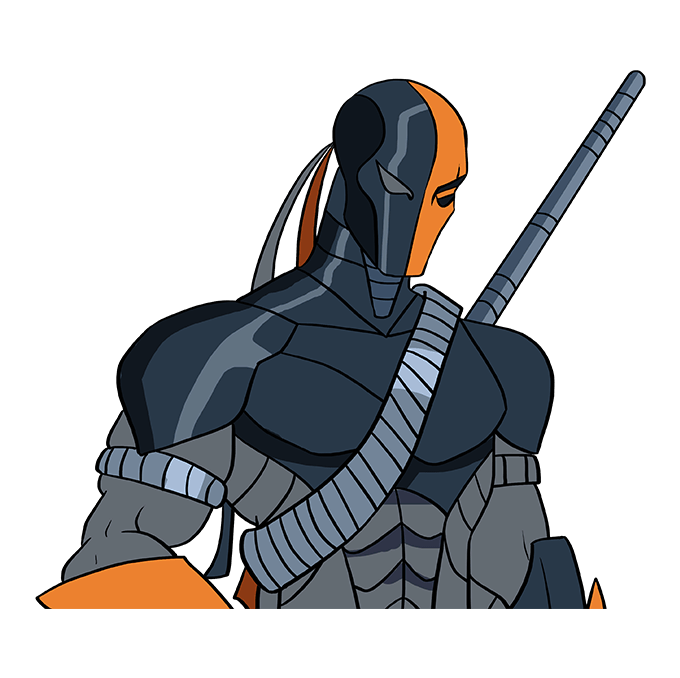How to Draw Deathstroke: Step 10