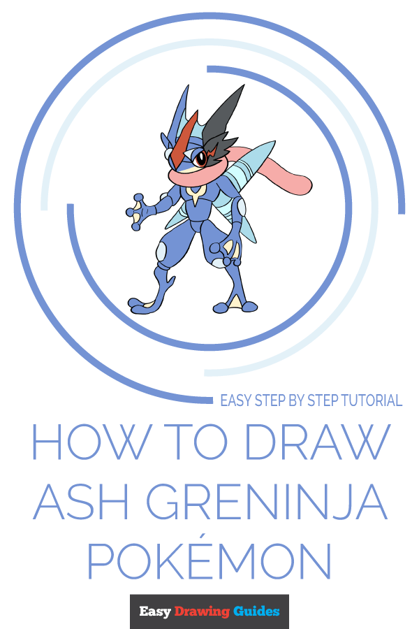 How to Draw Ash-Greninja from Pokémon | Share to Pinterest