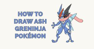 How to Draw Ash Greninja Pokémon Featured Image