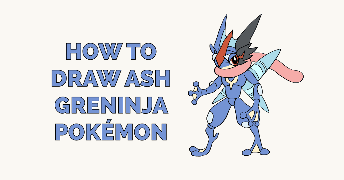 How to Draw Ash Greninja Pokémon Featured Image