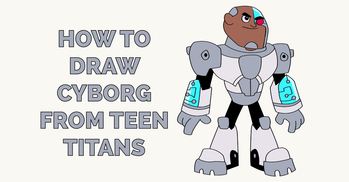 How to Draw Cyborg from Teen Titans Featured Image