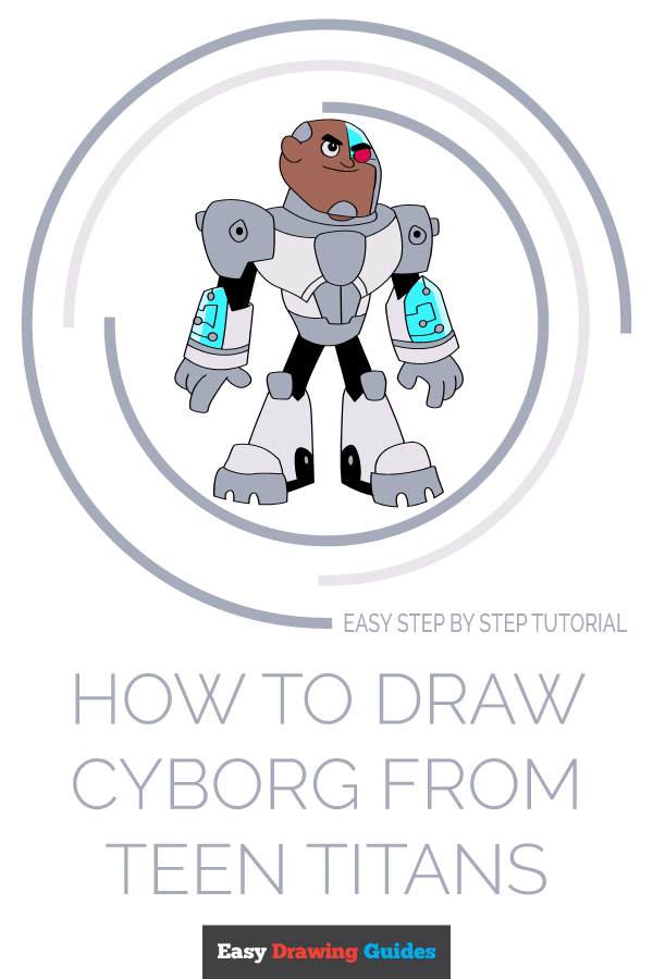 How to Draw Cyborg from Teen Titans | Share to Pinterest