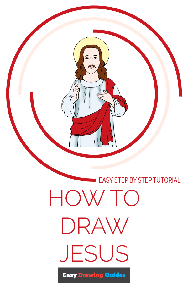 How to Draw Jesus | Share to Pinterest