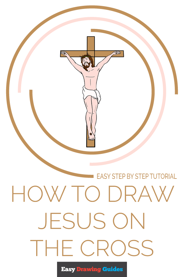 How to Draw Jesus on the Cross Pinterest Image