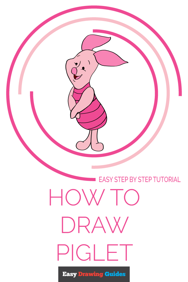 How to Draw Piglet | Share to Pinterest