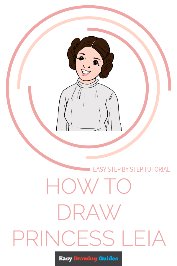 How to Draw Princess Leia | Share to Pinterest