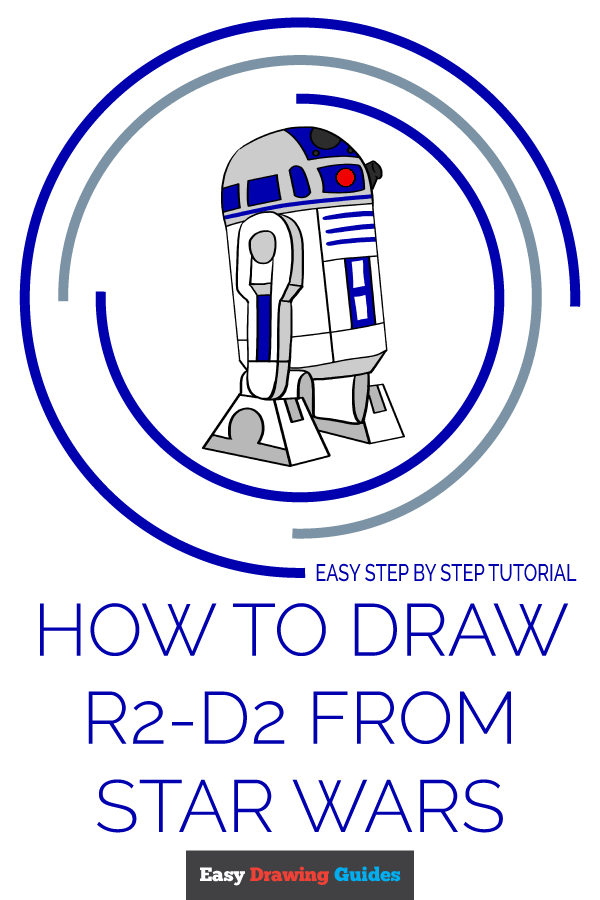 How to Draw R2-D2 from Star Wars | Share to Pinterest