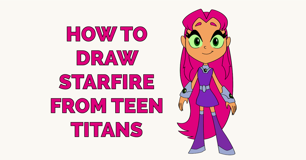 How to Draw Starfire from Teen Titans Featured Image
